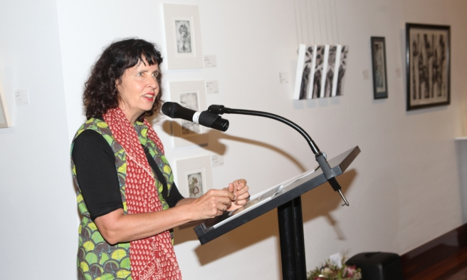 Guest Speaker Judy Watson (photo Cheryl Nonmus from On Q Photography)